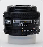 Nikon 50/1.4 AF-D lateral view