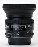 Nikon 50/1.4 with lens hood